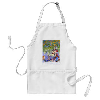 Alice at the Mad Hatter's Tea Paty. Adult Apron