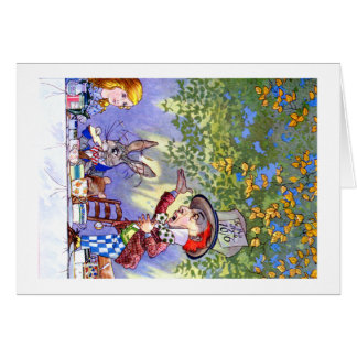 Alice at the Mad Hatter's Tea Paty. Card