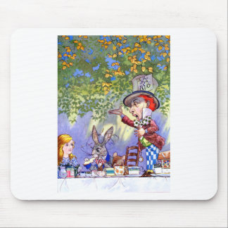 Alice at the Mad Hatter's Tea Paty. Mouse Pad