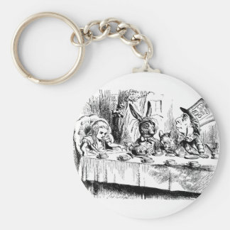 Alice at the Mad Tea Party Keychains