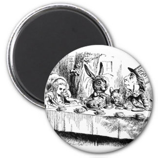 Alice at the Mad Tea Party Fridge Magnet
