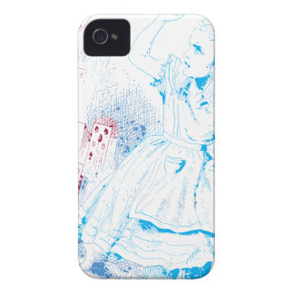 Alice Attacked By Cards iPhone 4 Case-Mate Case