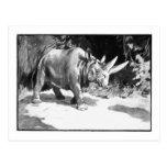 Alice B. Woodward: Arsinoitherium art postcard