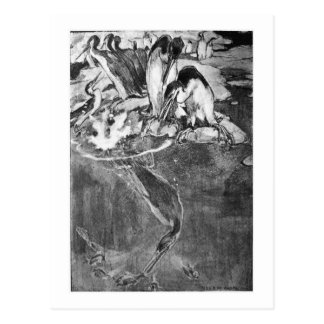 Alice B. Woodward: Hesperornis art postcard