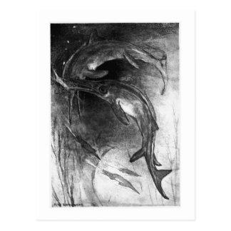 Alice B. Woodward: Ichthyosaurs art postcard