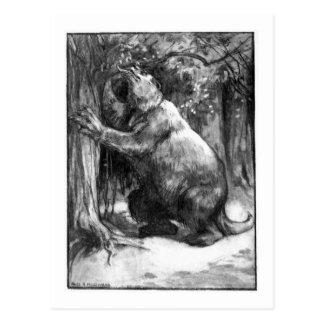 Alice B. Woodward: Megatherium art postcard