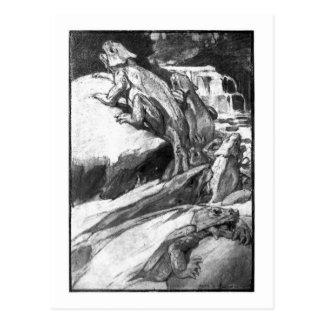 Alice B. Woodward: Permian Reptiles art postcard