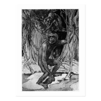 Alice B. Woodward: Pliopithecus art postcard