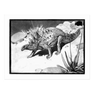 Alice B. Woodward: Polacanthus art postcard