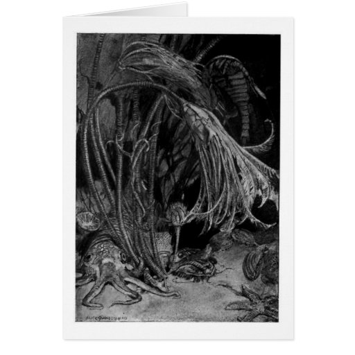 Alice B. Woodward: Silurian Marine Life art card
