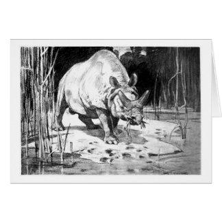 Alice B. Woodward: Titanotherium art card