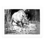 Alice B. Woodward: Titanotherium art postcard