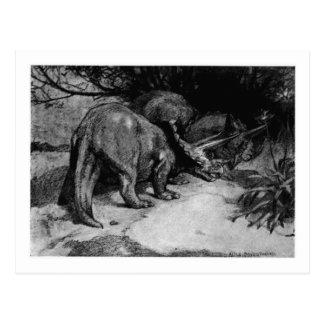 Alice B. Woodward: Triceratops art postcard