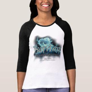 Alice Blazing Blue-Survivor (w on w with blk) T-shirt