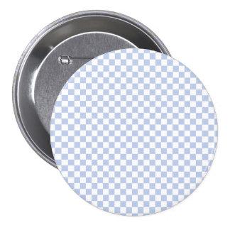 Alice Blue Checkerboard in English Country Garden 3 Inch Round Button