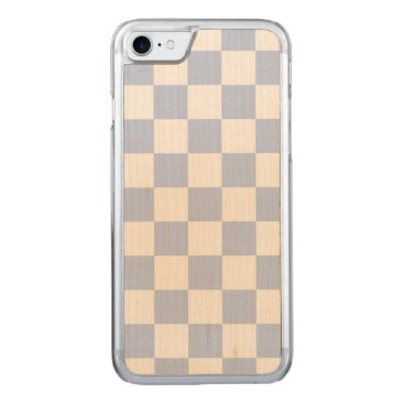 Beach Themed Alice Blue Checkerboard in English Country Garden Carved iPhone 7 Case