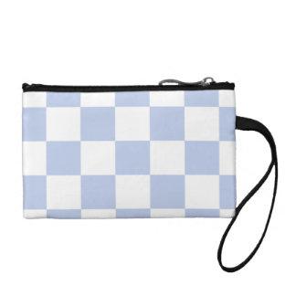 Alice Blue Checkerboard in English Country Garden Coin Wallet