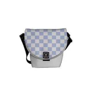 Alice Blue Checkerboard in English Country Garden Courier Bag