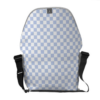 Alice Blue Checkerboard in English Country Garden Messenger Bag