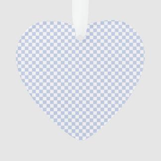 Alice Blue Checkerboard in English Country Garden Ornament