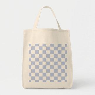 Alice Blue Checkerboard in English Country Garden Tote Bag