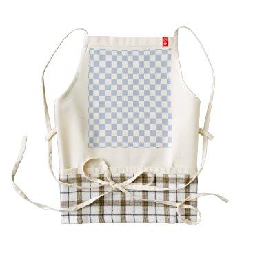 Beach Themed Alice Blue Checkerboard in English Country Garden Zazzle HEART Apron