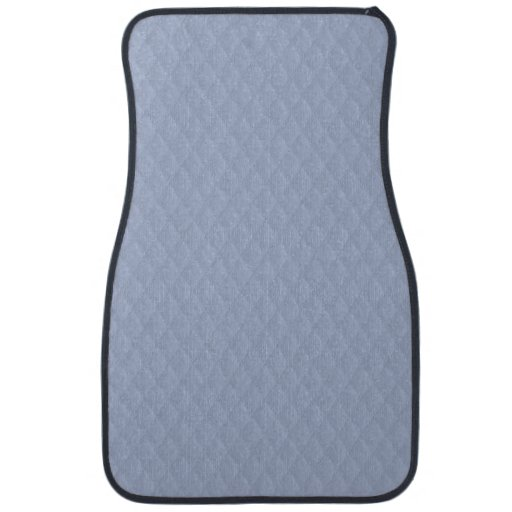 Alice Blue Diamond Quilted Stitched Pattern Car Floor Mat