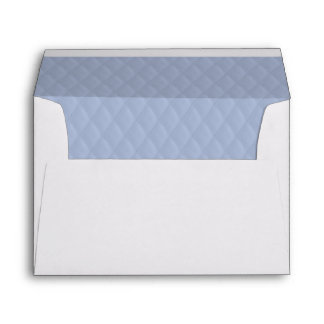 Alice Blue Diamond Quilted Stitched Pattern Envelope