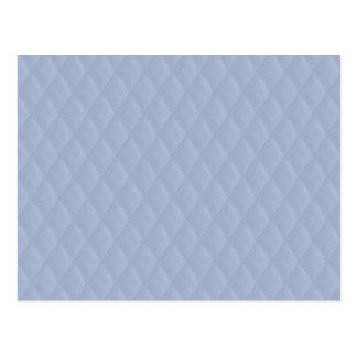 Alice Blue Diamond Quilted Stitched Pattern Postcard