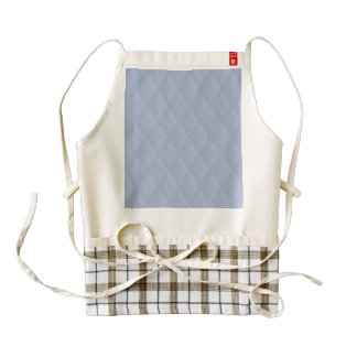 Alice Blue Diamond Quilted Stitched Pattern Zazzle HEART Apron