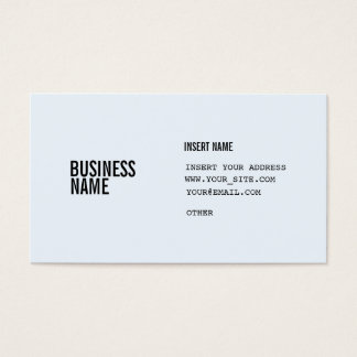 Alice Blue Format With Columns Condensed Fonts Business Card