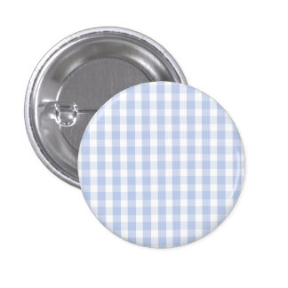 Alice Blue Gingham in an English Country Garden 1 Inch Round Button