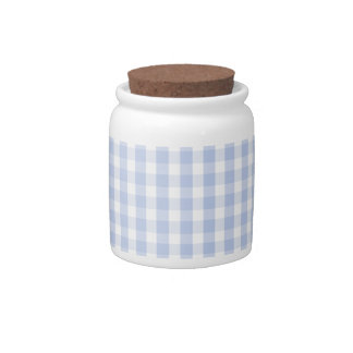 Alice Blue Gingham in an English Country Garden Candy Jar