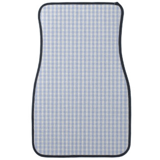 Alice Blue Gingham in an English Country Garden Car Mat