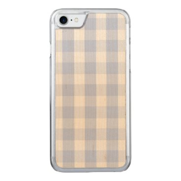 Beach Themed Alice Blue Gingham in an English Country Garden Carved iPhone 7 Case