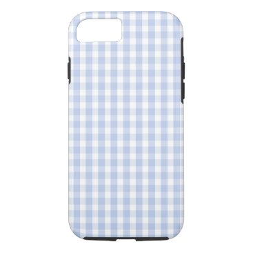 Beach Themed Alice Blue Gingham in an English Country Garden iPhone 7 Case