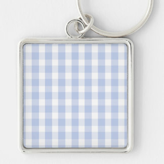 Alice Blue Gingham in an English Country Garden Keychain