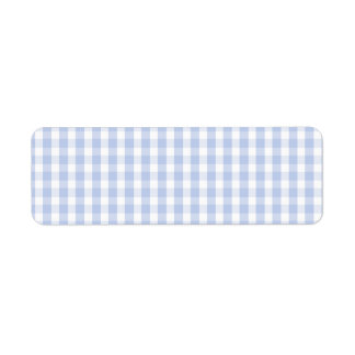 Alice Blue Gingham in an English Country Garden Label