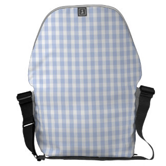 Alice Blue Gingham in an English Country Garden Courier Bag