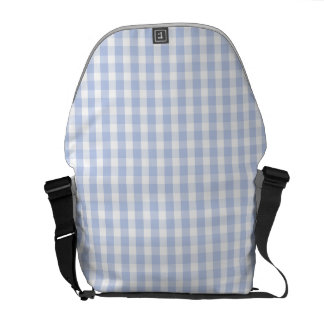 Alice Blue Gingham in an English Country Garden Messenger Bag