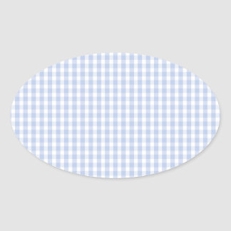 Alice Blue Gingham in an English Country Garden Oval Sticker