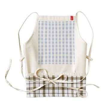 Beach Themed Alice Blue Gingham in an English Country Garden Zazzle HEART Apron