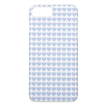 Beach Themed Alice Blue Hearts in an English Country Garden iPhone 7 Plus Case