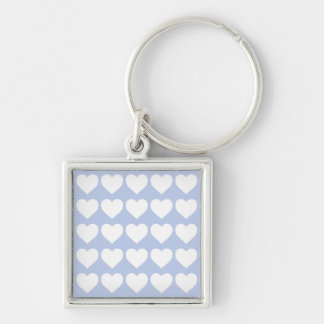 Alice Blue Hearts in an English Country Garden Keychain
