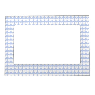 Alice Blue Hearts in an English Country Garden Magnetic Photo Frames
