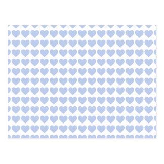 Alice Blue Hearts in an English Country Garden Postcard