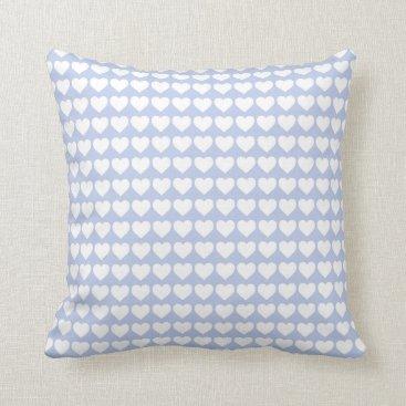 Beach Themed Alice Blue Hearts in an English Country Garden Throw Pillow