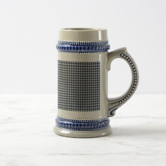 Alice Blue Houndstooth in English Country Garden Beer Stein