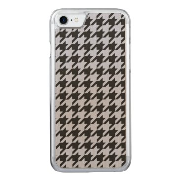 Beach Themed Alice Blue Houndstooth in English Country Garden Carved iPhone 7 Case