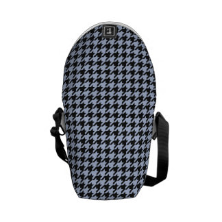 Alice Blue Houndstooth in English Country Garden Courier Bag